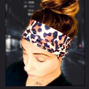 Accessories - Leopard Print Stretch Head-wrap
